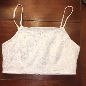 Charlotte Russe White Crop Top !
